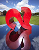 Two Hearts Sculpture, Gartnavel Royal Hospital, Glasgow