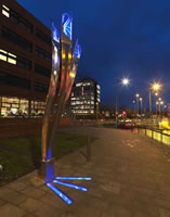 Lighting columns wolverhampton stainless steel architecture (1)