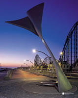 Rotating wind shelters Blackpool
