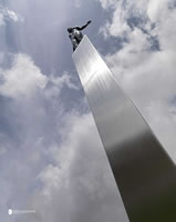Stainless steel sculpture blackpool (1)