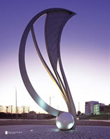 The seed sculpture manchester architectural metalwork