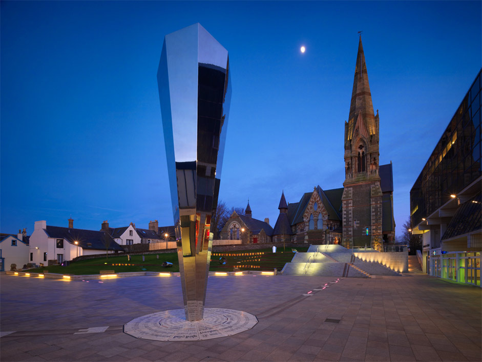 The Trinity Mirror Irvine Stainless Steel Sculpture By
