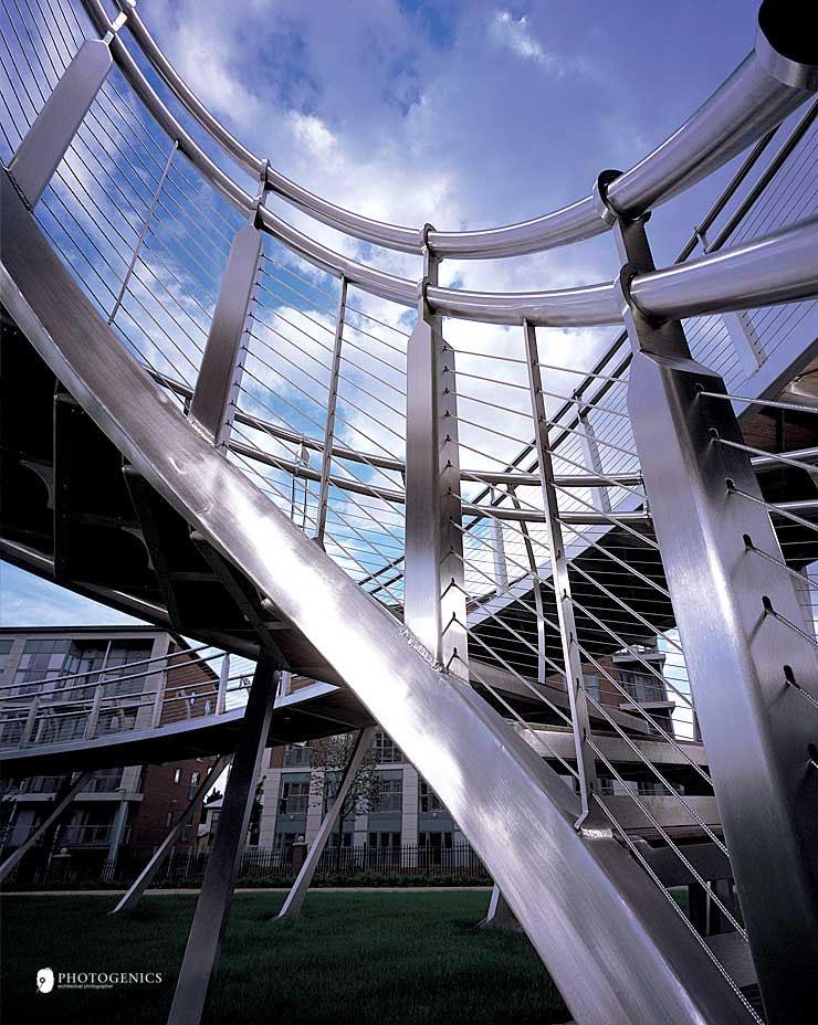 Skyramp birmingham bespoke architectural structures by m tec skyramp birmingham stainleess steel monument 4 publicscrutiny Images